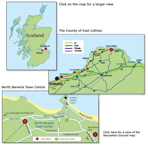 maps of east lothian and north berwick